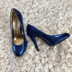 **Steve Madden Electric Blue Heels Pumps EUC**